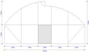 greenlife structures 12 metre sawtooth greenhouse size