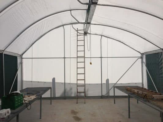 greenlife structures 6 metre sawtooth greenhouse