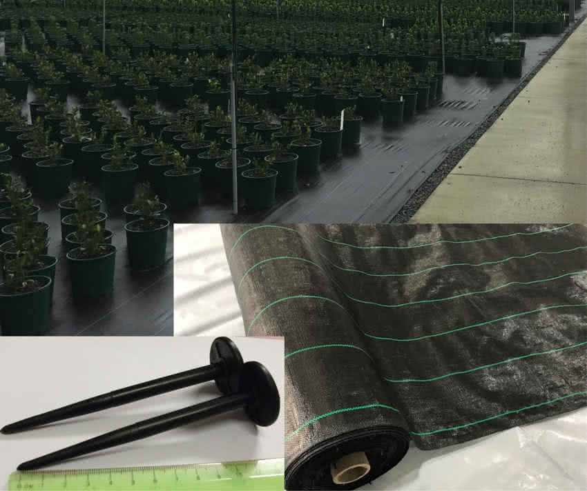 greenlife structures horticultural films & fabric- weedmat &pins